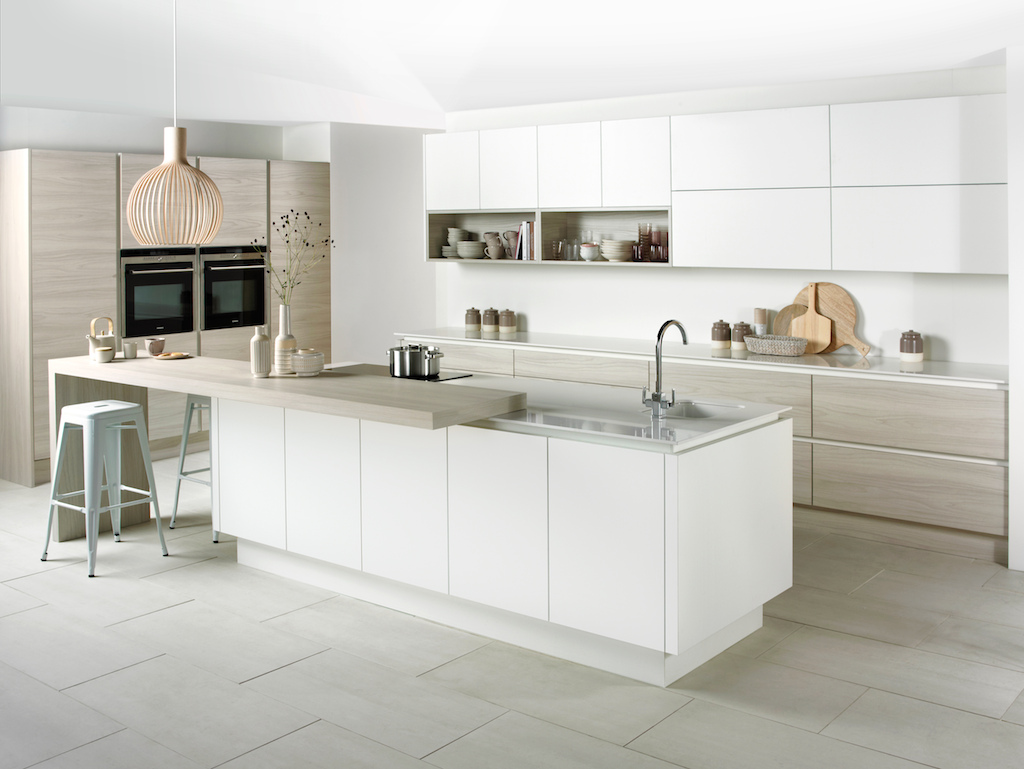 contemporary handless kitchens from biography, design & fitted